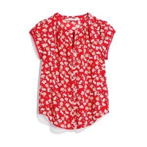 Stitch Fix Red Floral Blouse